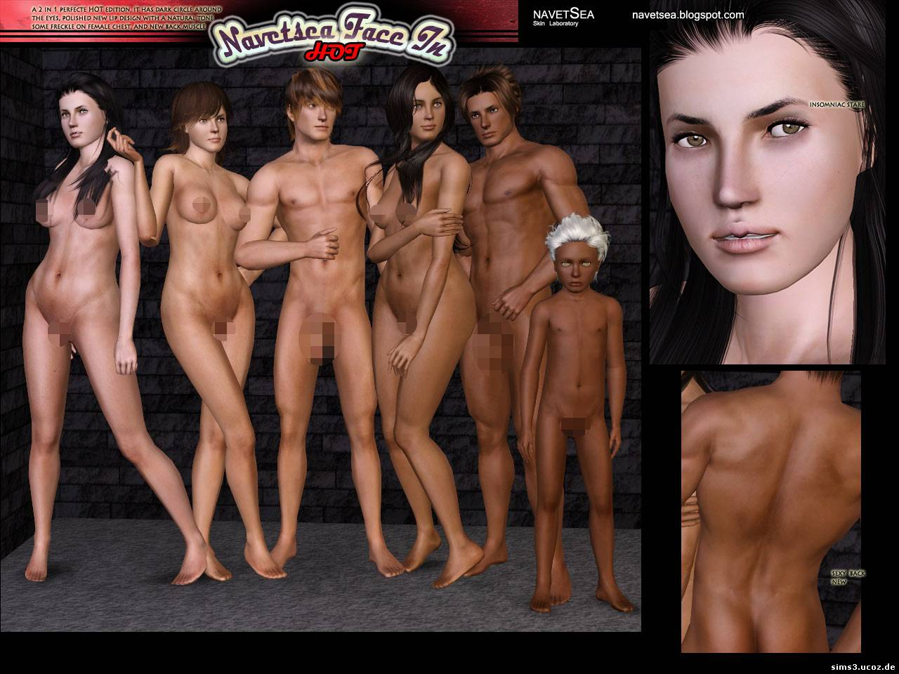 Sims 3 nude male and female patch cartoon girls